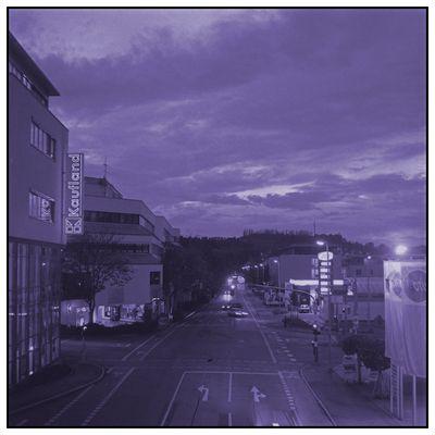 Europastrasse bei Nacht