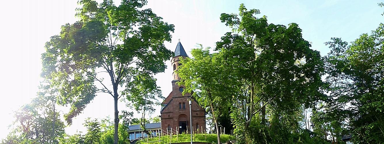Evangelische Kirche in Lorsch/Hessen.