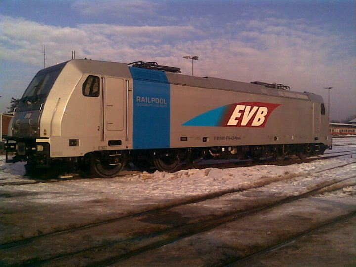 EVB E-Lok in Bremervörde