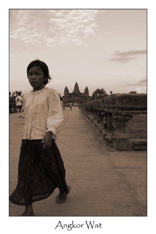 Evening at Angkor Wat