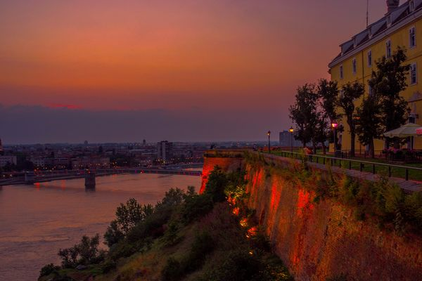 Evening at the Petrovaradin fortress
