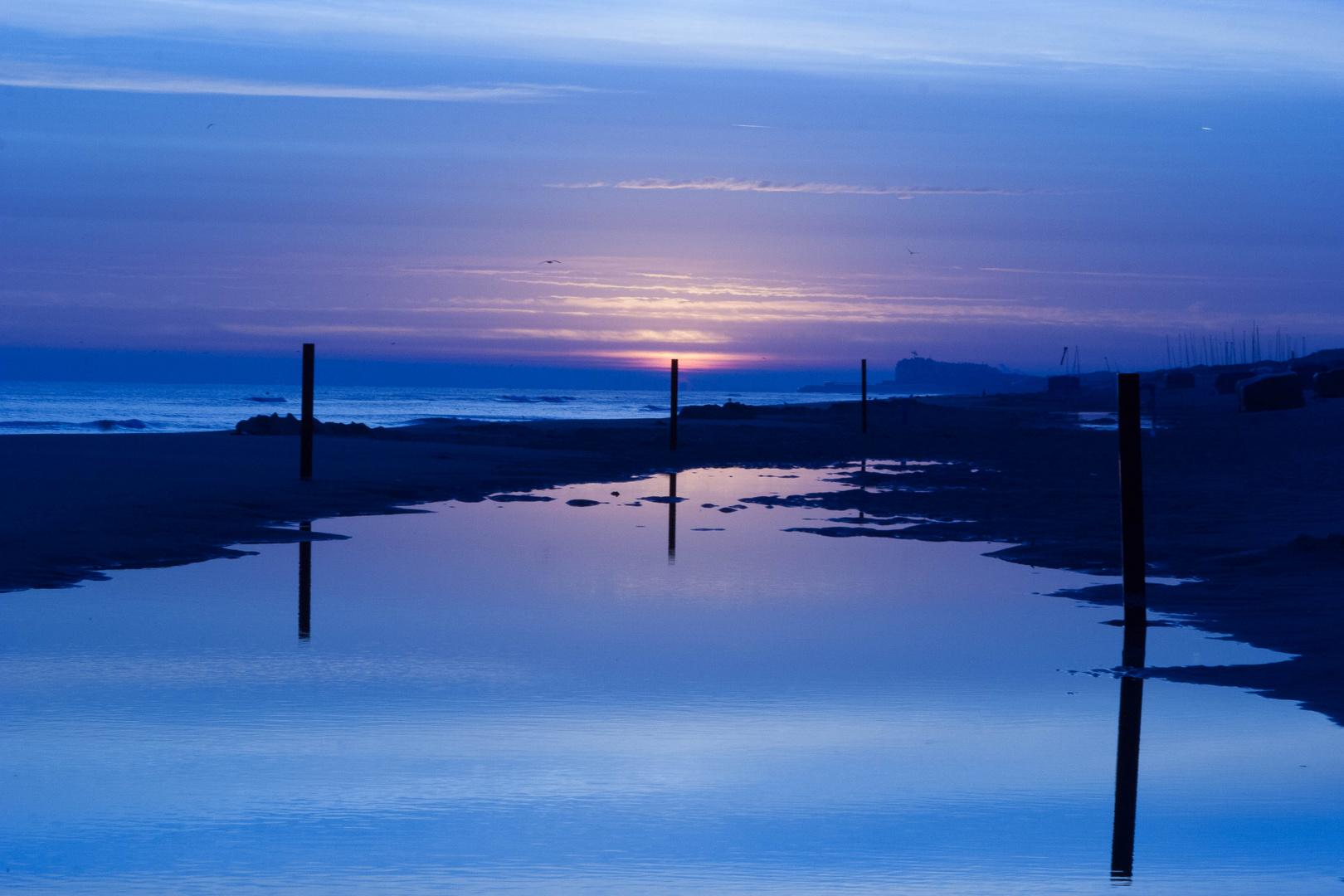 Evening Beach De Haan
