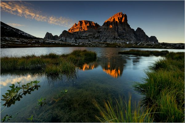 *** evening in the dolomites ***