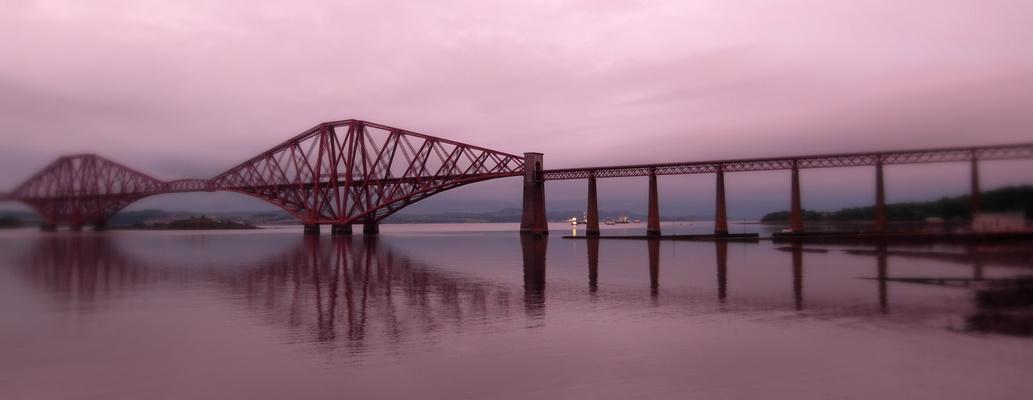 Evening on Forth Railway Bridge