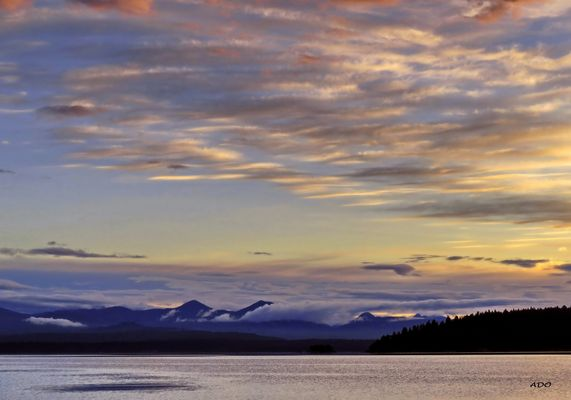 Evening over Vancouver Island