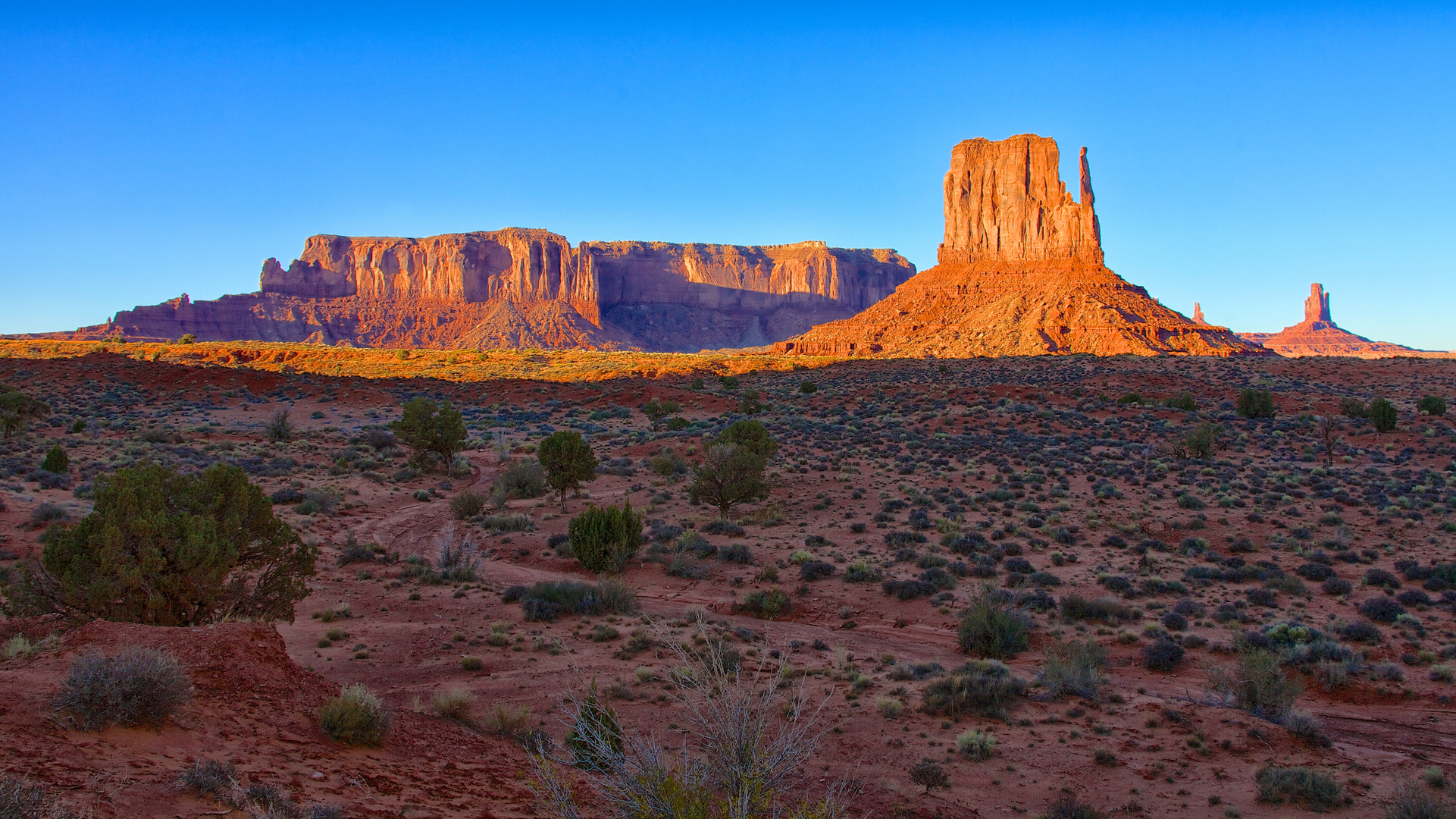 Evening view at Monument Valley