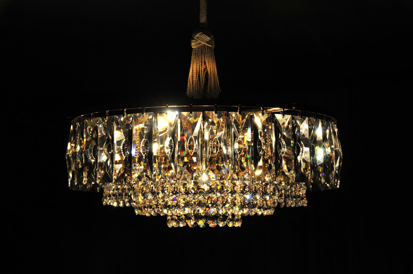 Exklusiver kristalluster der 60er jahre foto bild for Lampen n und l
