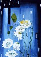 Exotische Seerose (70 X 50 Acryl)