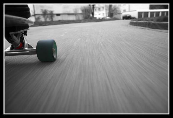 Experiment mit dem Longboard
