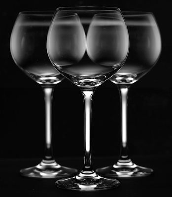 Experiment mit Glas