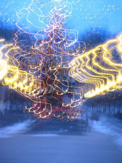 explodierender Weihnachtsbaum