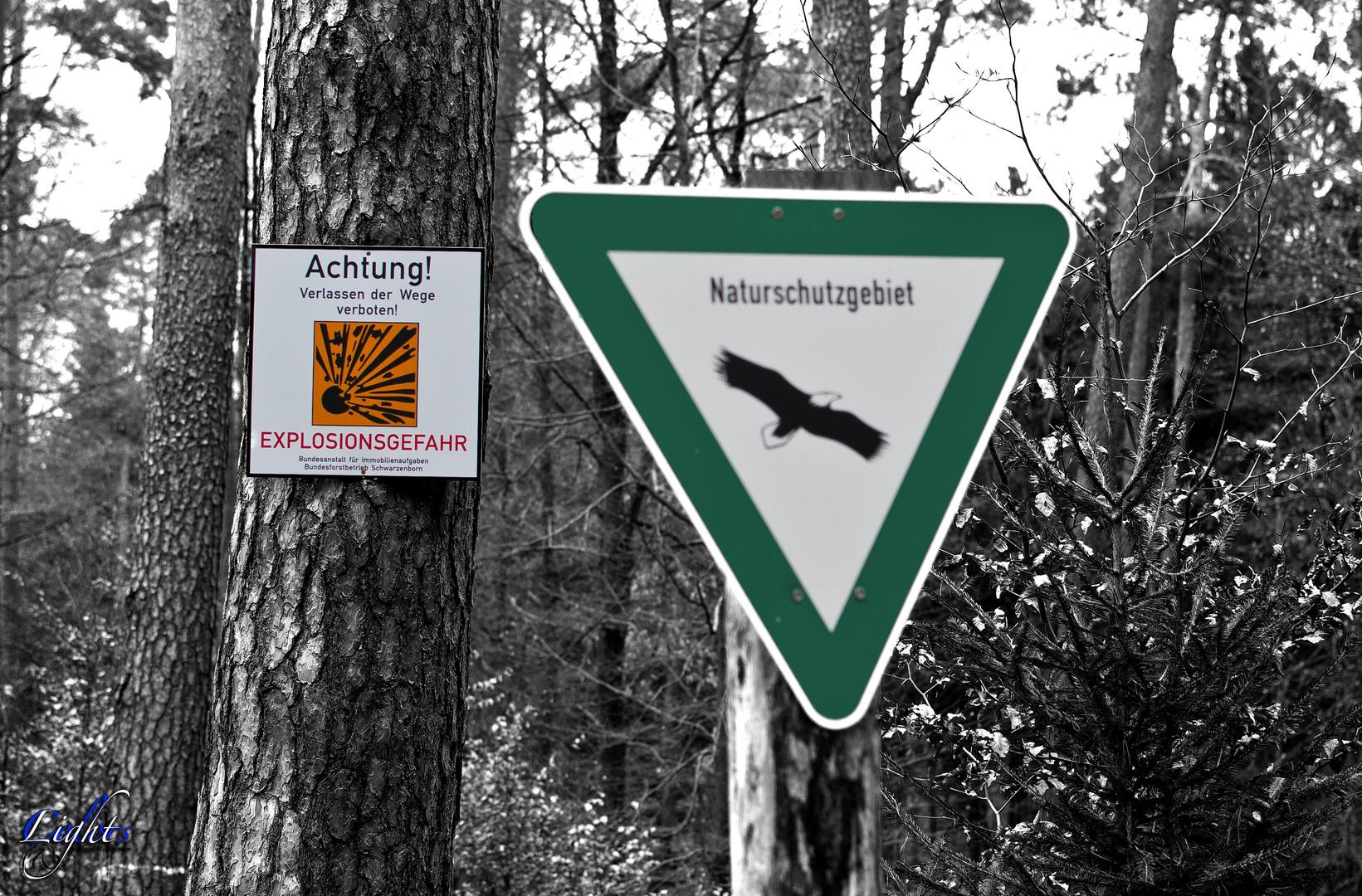 Explosionsgefährdetes Naturschutzgebiet