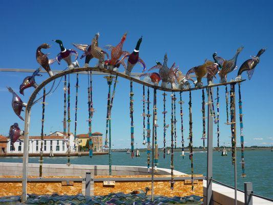 Exposition de verre à Murano