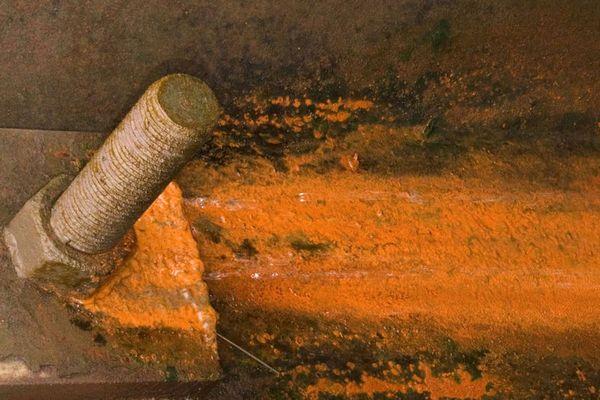 Expressionistisches Gemälde von Rost