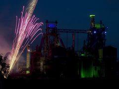 Extraschicht 2012: Feuerwerk im Landschaftspark Duisburg (3)