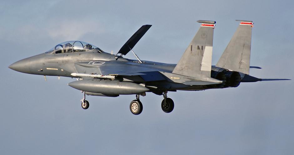F-15E Strike Eagle...Landing...