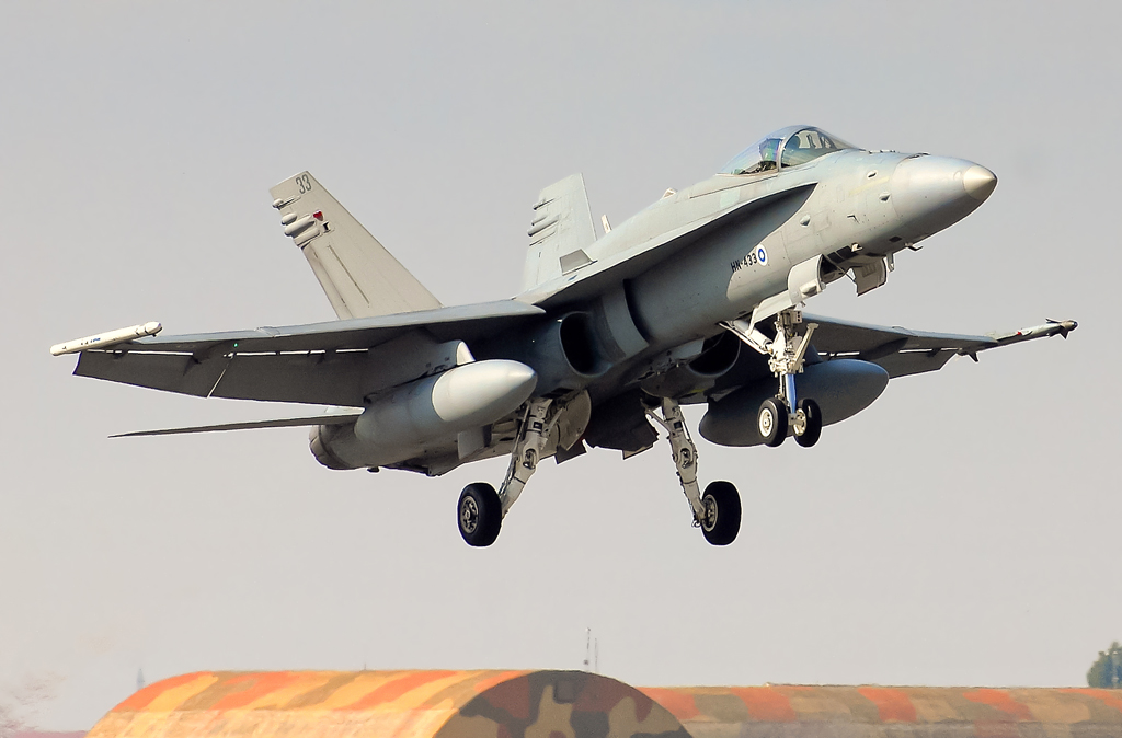 F-18 de la Fuerza Aérea Finlandesa