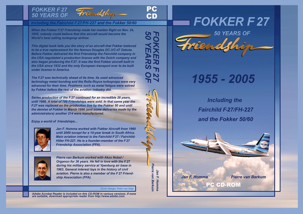 F-27 CDROM Cover design
