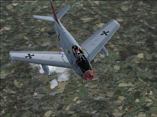 F-86, auf dem Flug von Wittmund nach Nörvenich
