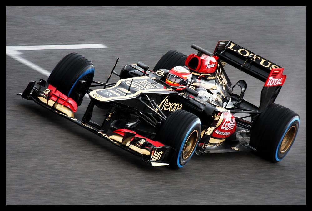 F1 Testing Barcelona, Romain Grosjean