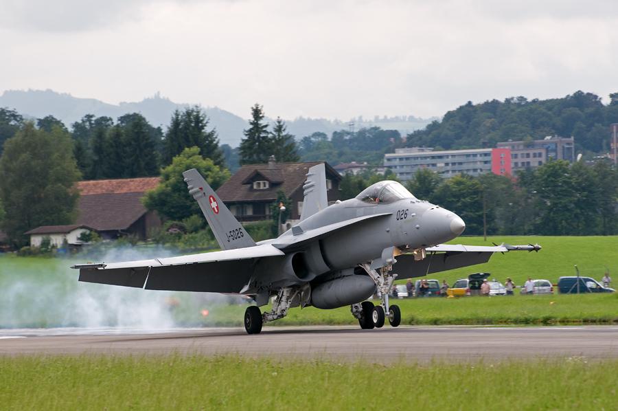 F/A-18C Hornet - Landung
