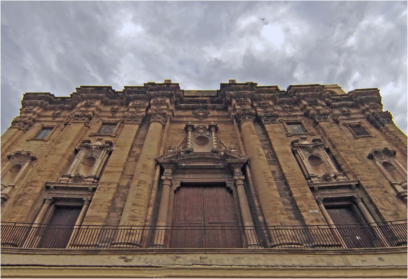 Façade baroque de la Cathédrale Santa Maria de Tortosa (XVIIIème)