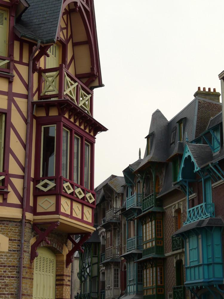 Façades de Mers les Bains (Picardie)