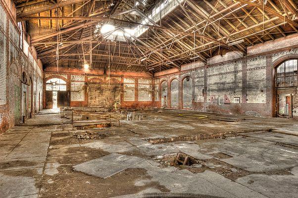 Fabrikhalle bei den Beelitzer Heilstätten