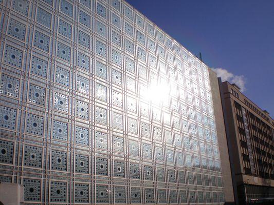 Facade de l'institut du monde arabe