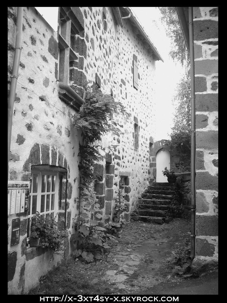 Facade en noir et blanc