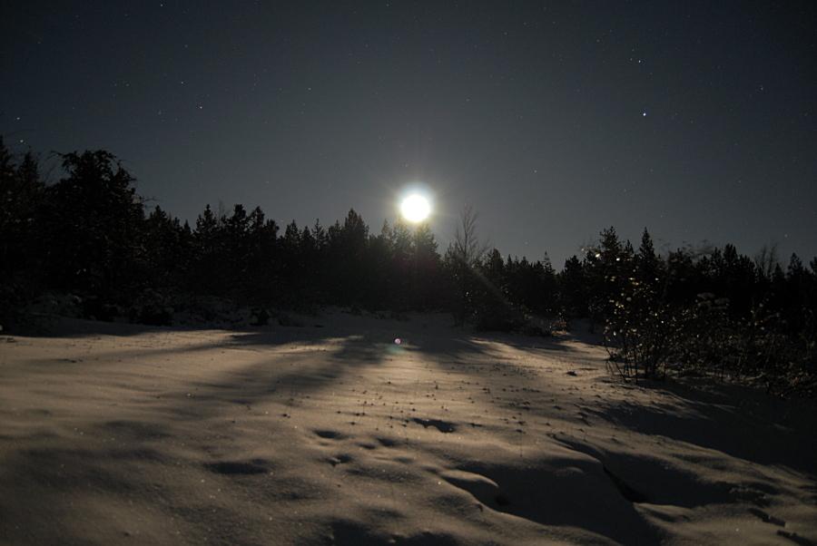 Face à la lune