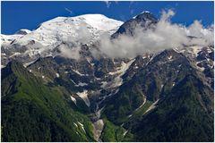 face au majestueux  Mont blanc....