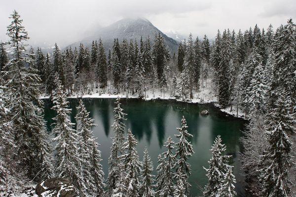 Face au Mont Blanc Lac vert