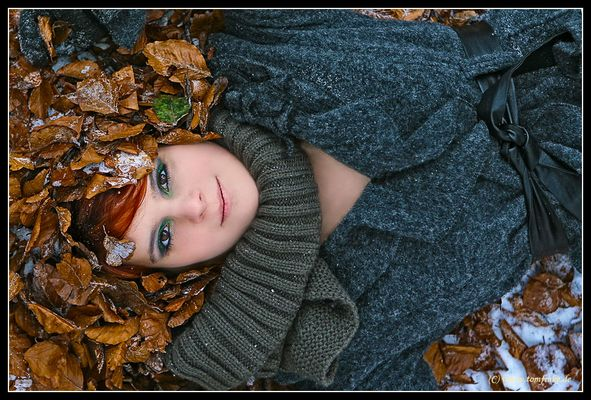 Face in the leaves