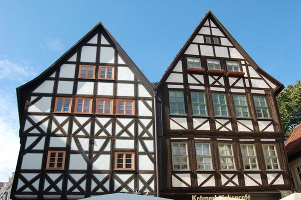 Fachwerk-Bauten in Erfurt