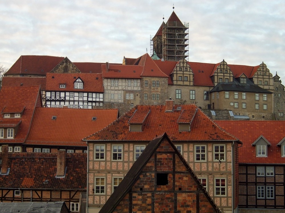 Fachwerk-Fassaden in Quedlinburg