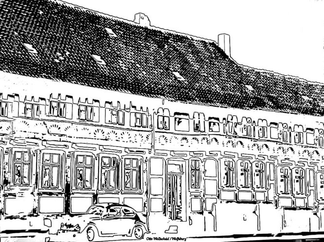 Fachwerk Hornburg b. WF.