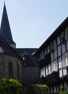 Fachwerk und Evangelische Kirche in Düssel Bild II