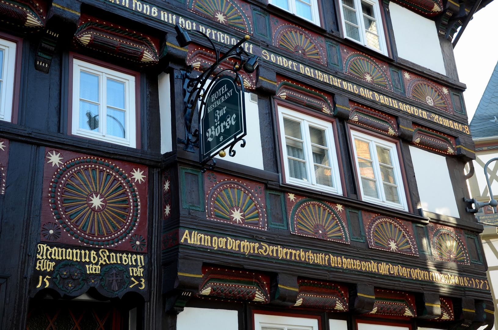 Fachwerkfassade in Goslar (2)