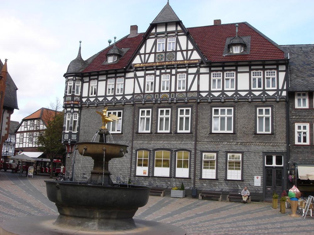 Fachwerkhaus auf dem Marktplatz in Goßlar
