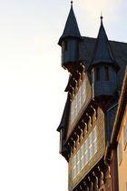 Fachwerkhaus in Fritzlar bei Sonnenuntergang