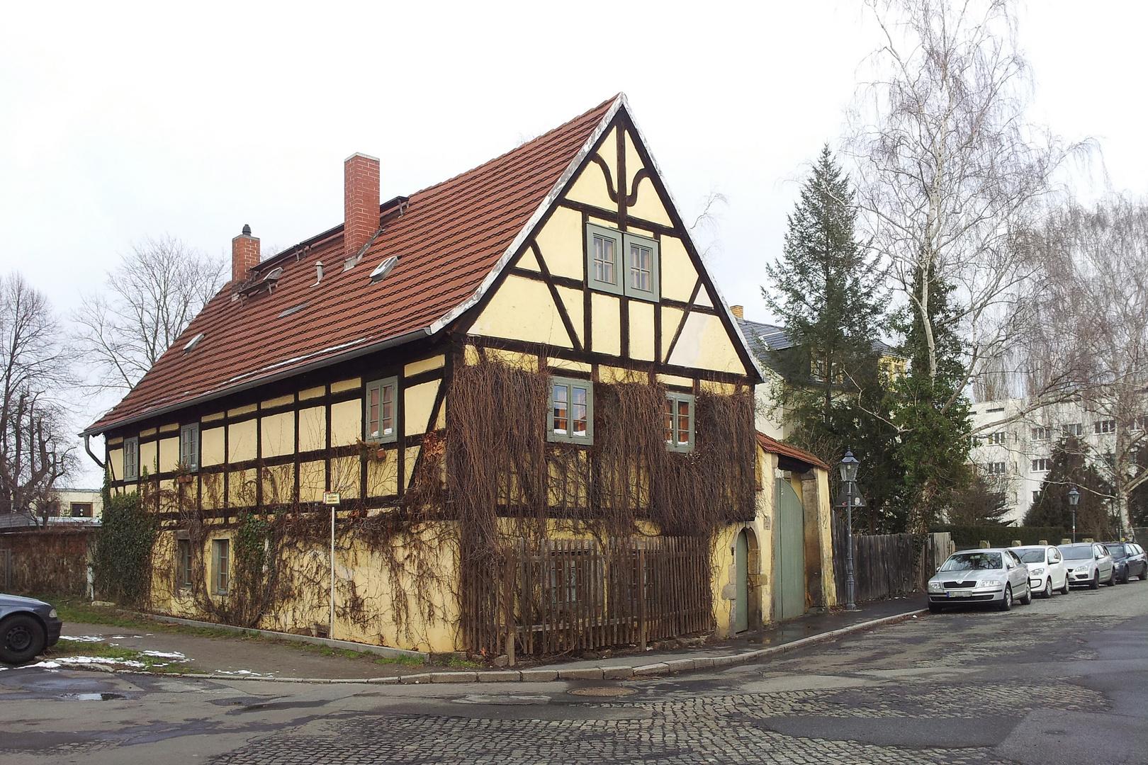 Fachwerkhaus von 1804 in Altpieschen