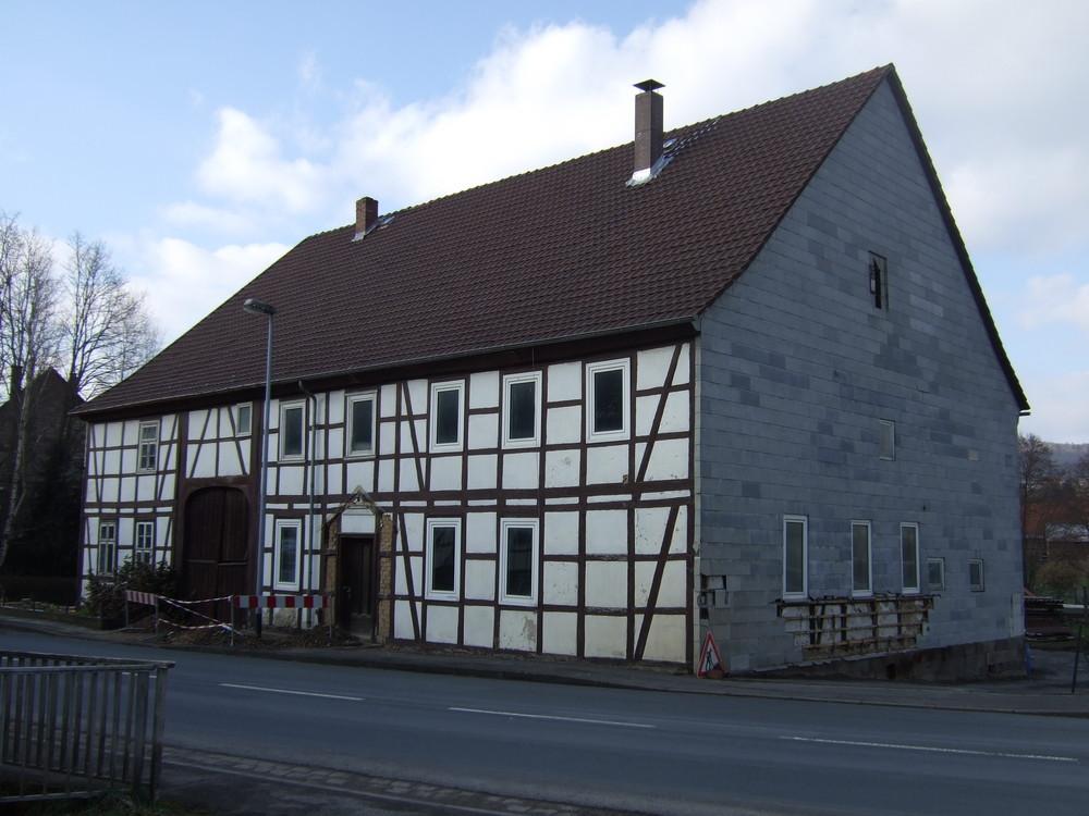Fachwerkhaus vor dem Abriss
