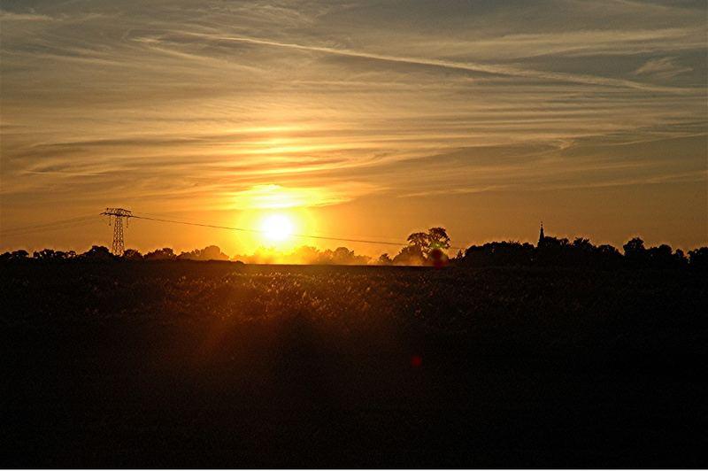 Fader Sonnenuntergang
