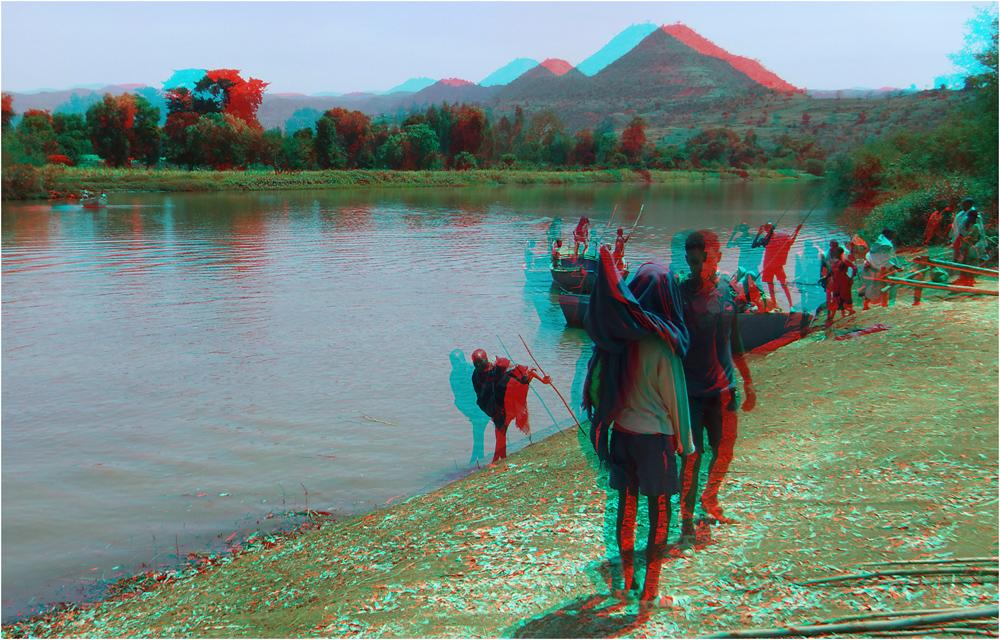 Fähre über den Blauen Nil