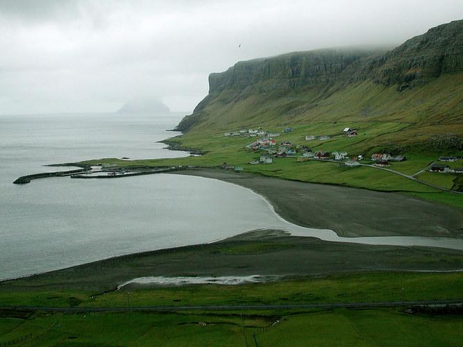 Färöer-Reise 2003 (Flussdelta)