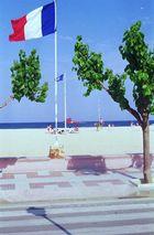 Fahnen, Bäume, Meer