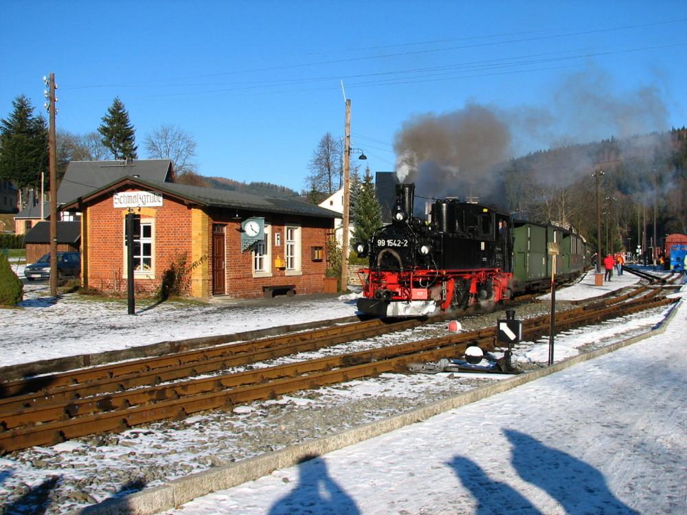 Fahrbetrieb zum Jahreswechsel 2007/2008 auf der Preßnitztalbahn