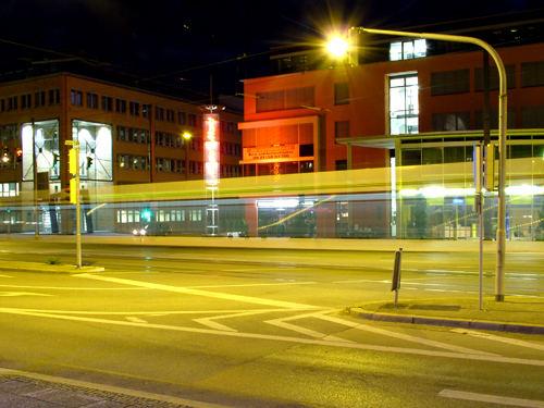 Fahrende Straßenbahn, Gögginger Straße 6.10.06