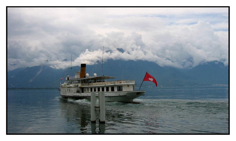 fahrgastschiff auf dem genfer see